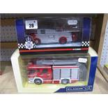 Two Diecast Model Fire Service Vehicles, including Eligor 1:43rd scale #114213 Scania double