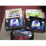 Three Corgi 1:50th Scale 'Nine Double Nine' Diecast Model Fire Service Vehicles, including #
