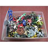 A Quantity of Modern Plastic Action Figures, by Hasbro, Bandai and other, playworn.
