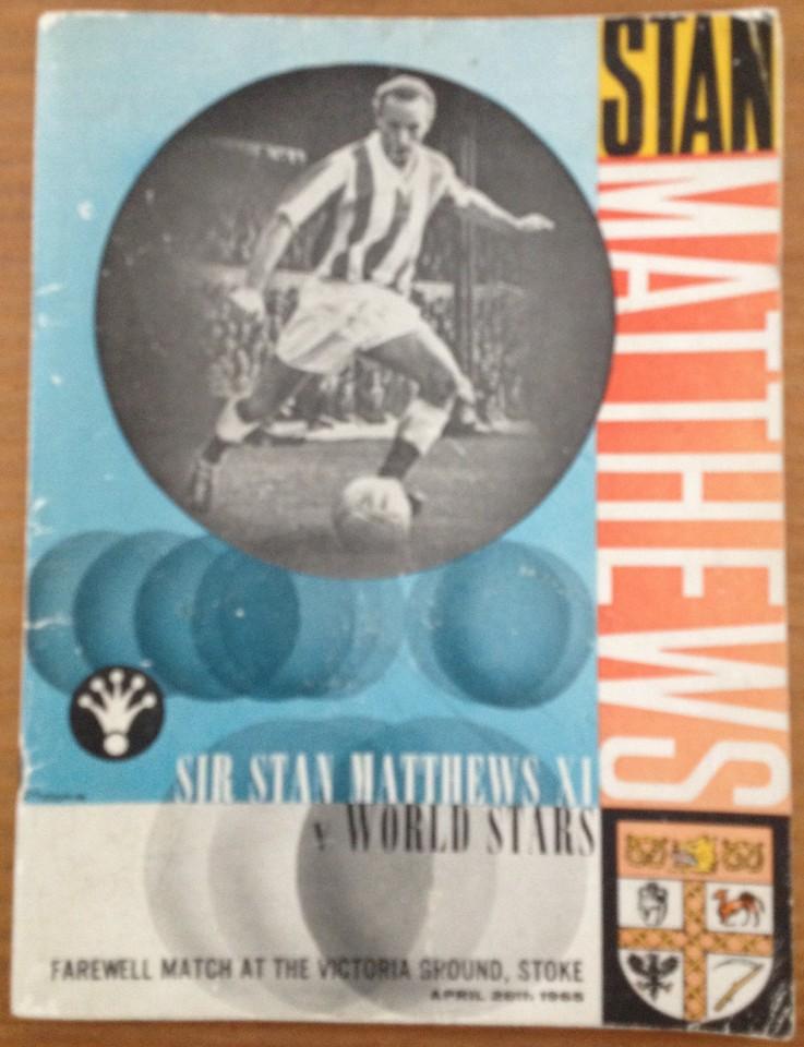 Lot 45 - Sir Stan Matthews Farewell match programme.