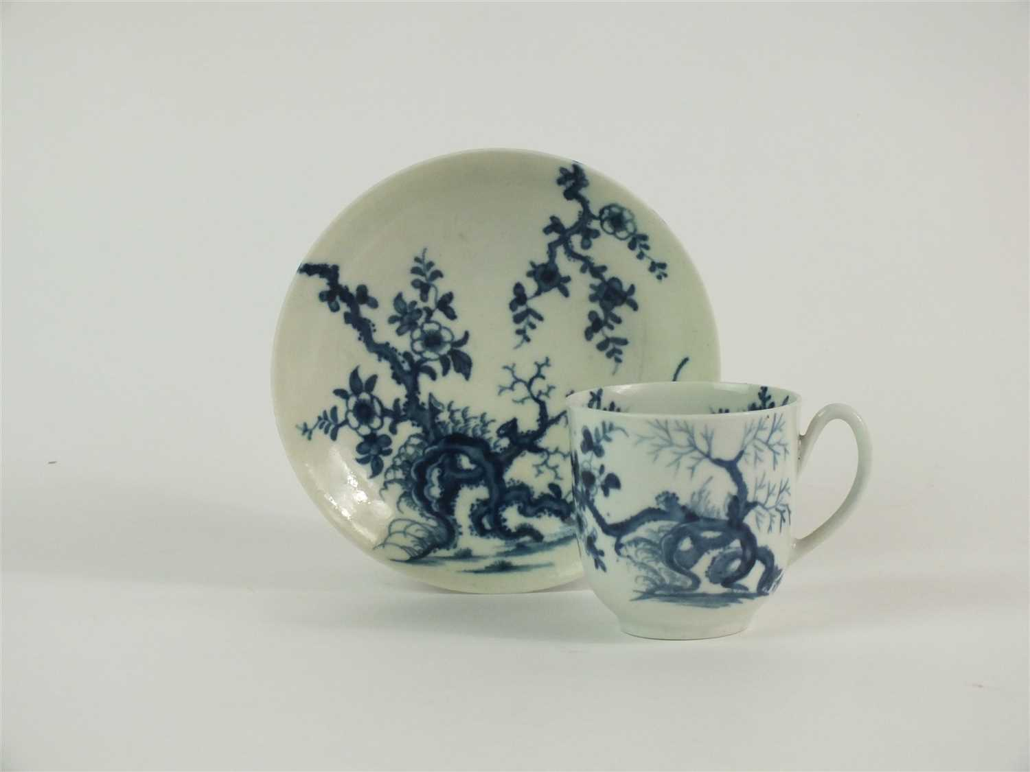 Lot 39 - A Worcester 'Prunus Root' coffee cup and saucer