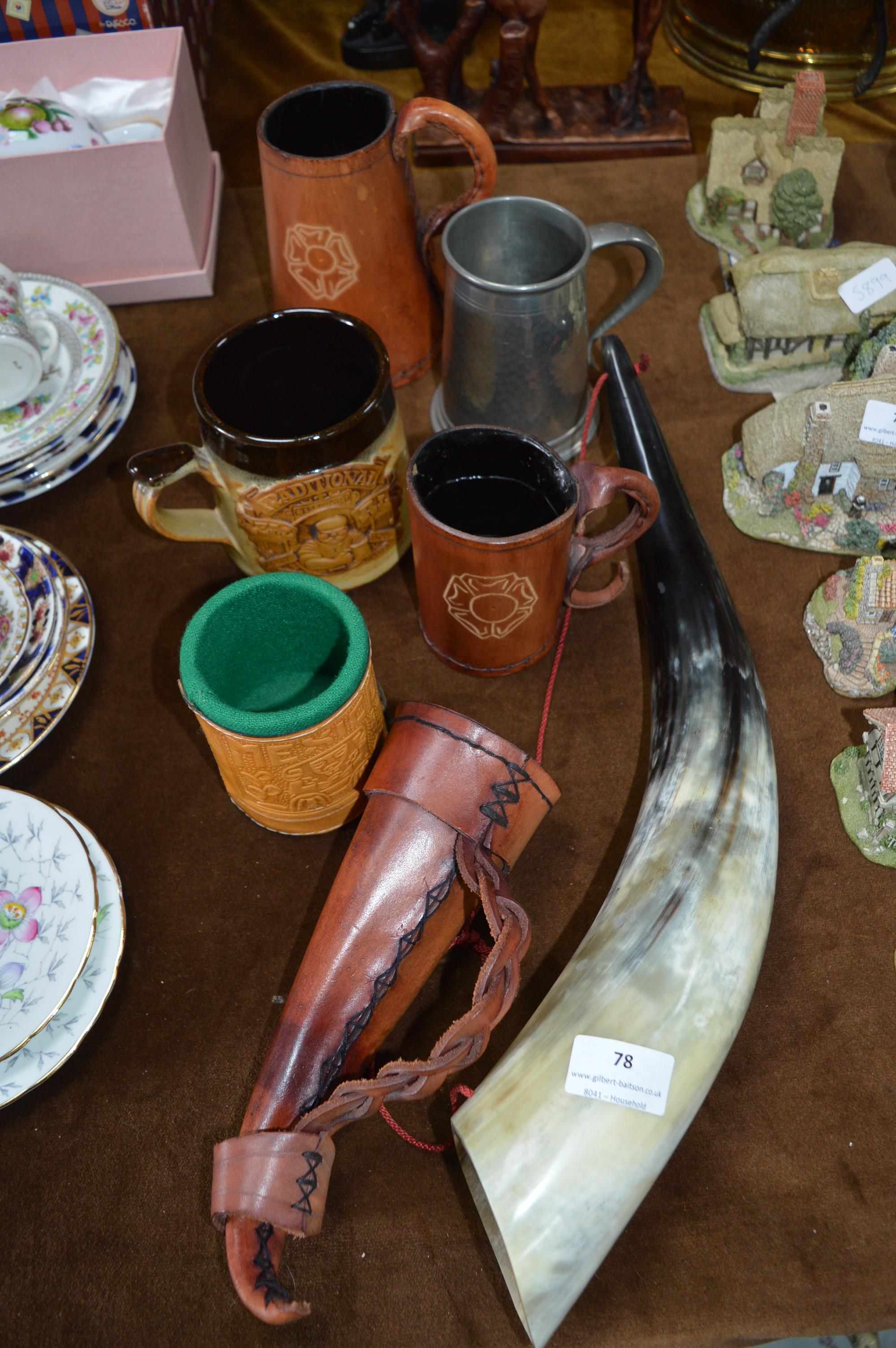Lot 78 - Collection of Assorted Drinking Vessels Including
