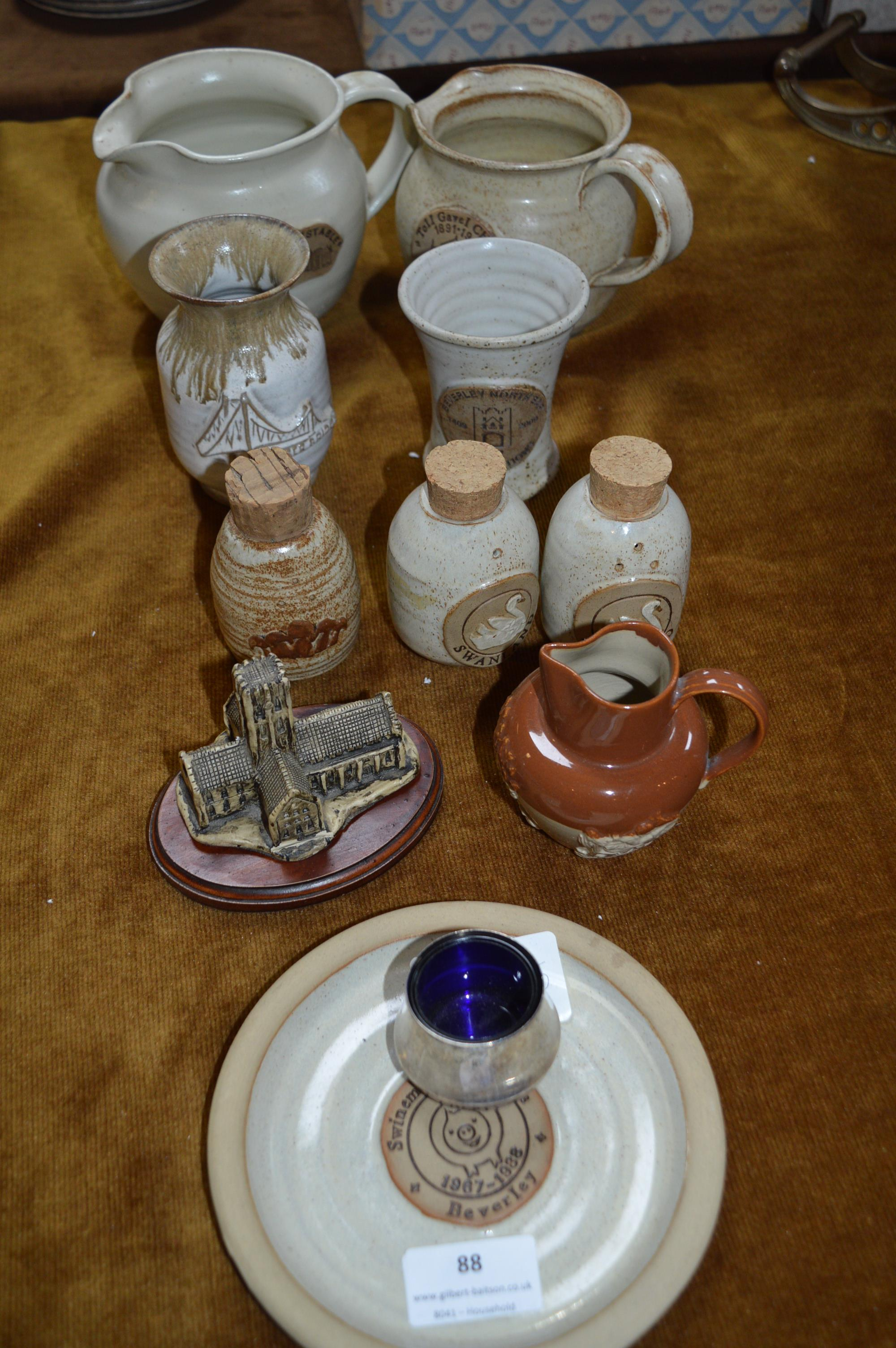 Lot 88 - Collection of Local Hand Thrown Pottery