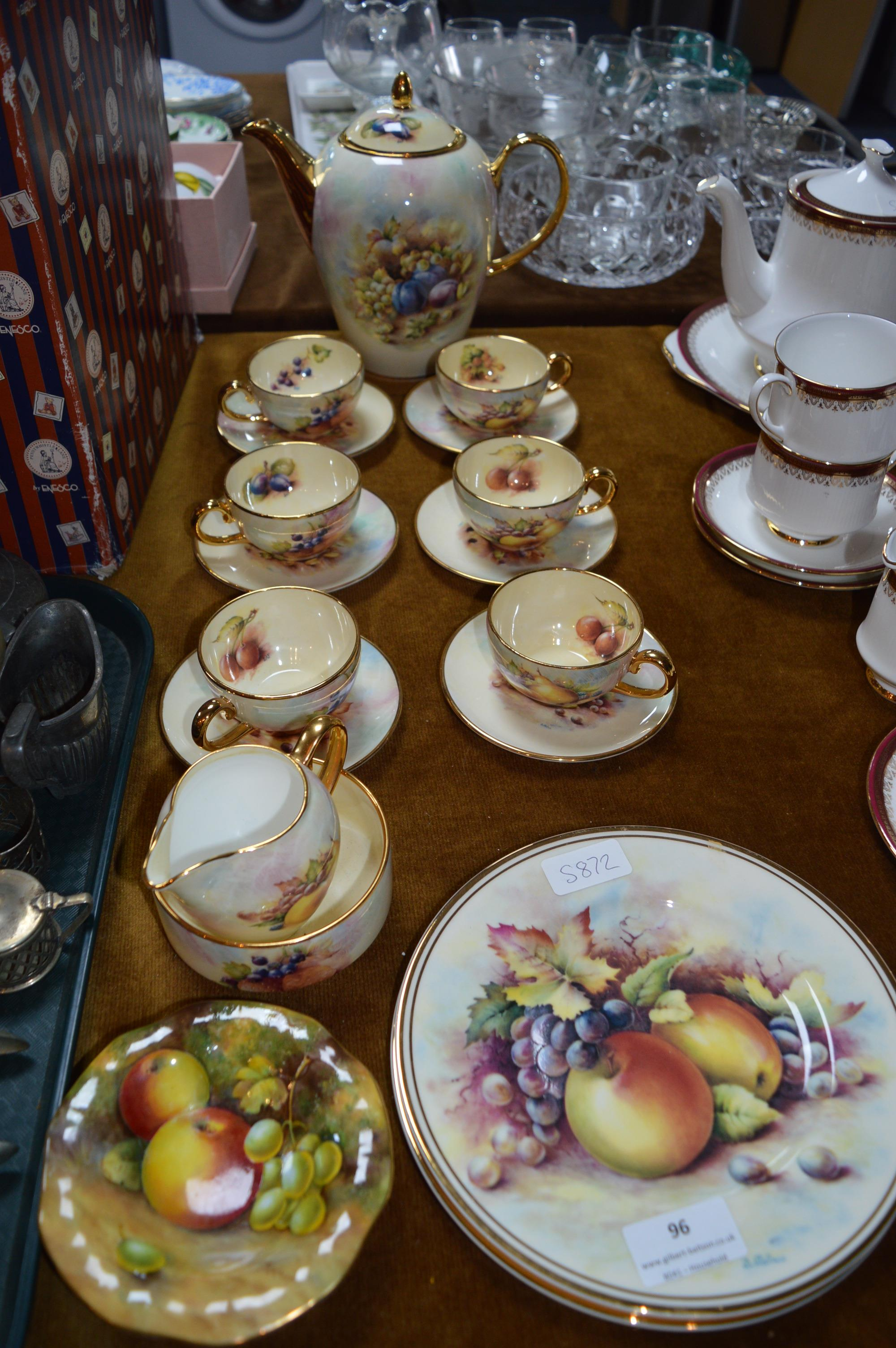 Lot 96 - Fenton Forest Fruits China Tea Service