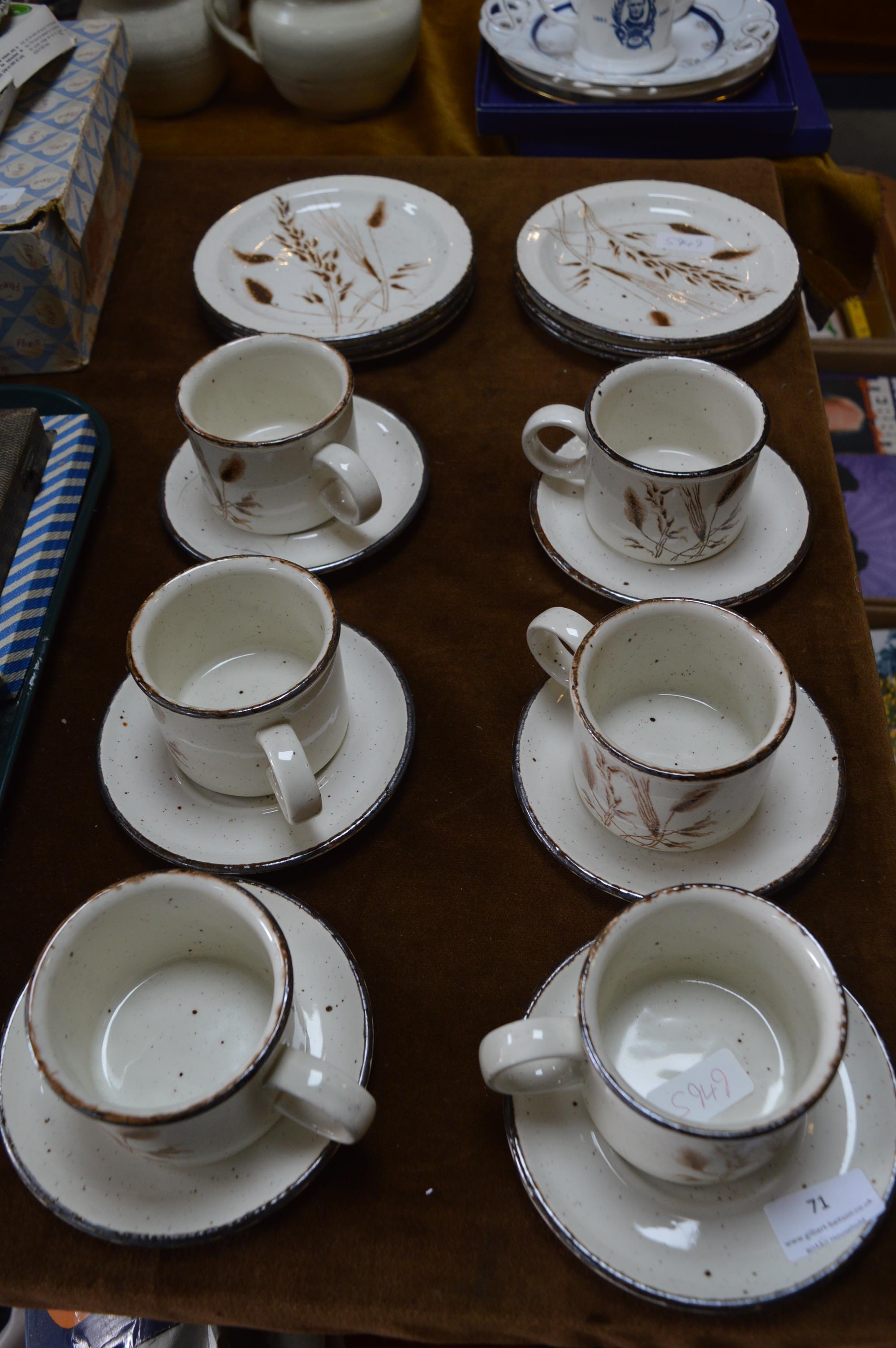 Lot 71 - Six Piece Midwinter Stonehenge Tea Set