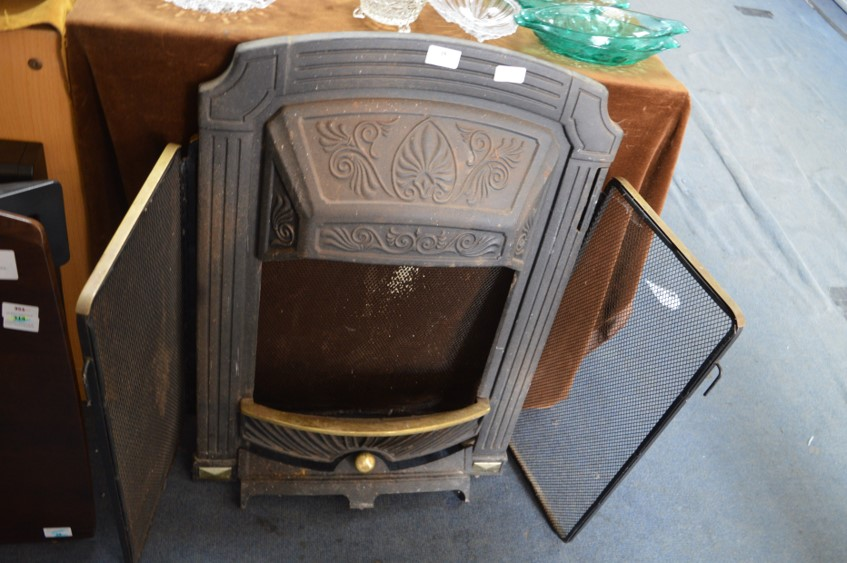 Lot 16 - Cast Iron Fire Place and a Brass Fire Screen