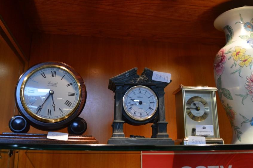 Lot 40 - Three Mantel Clocks