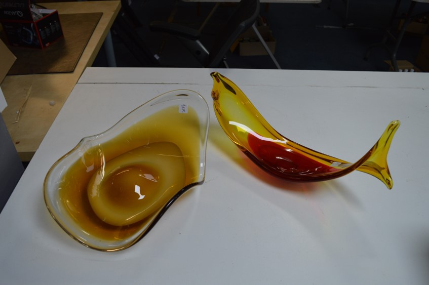Lot 36 - Two Pieces of Art Glass (one AF)