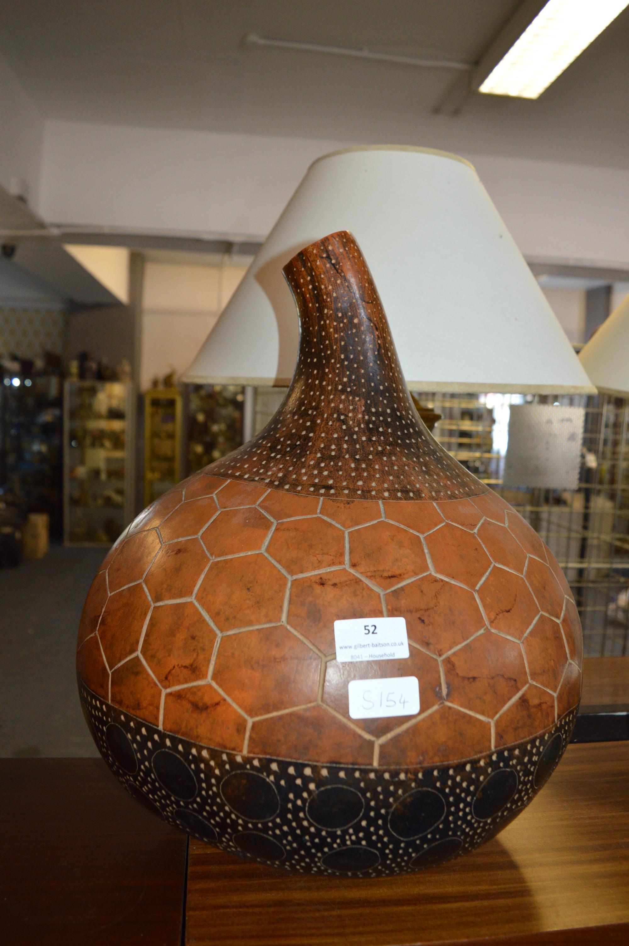 Lot 52 - Decorative Gourd
