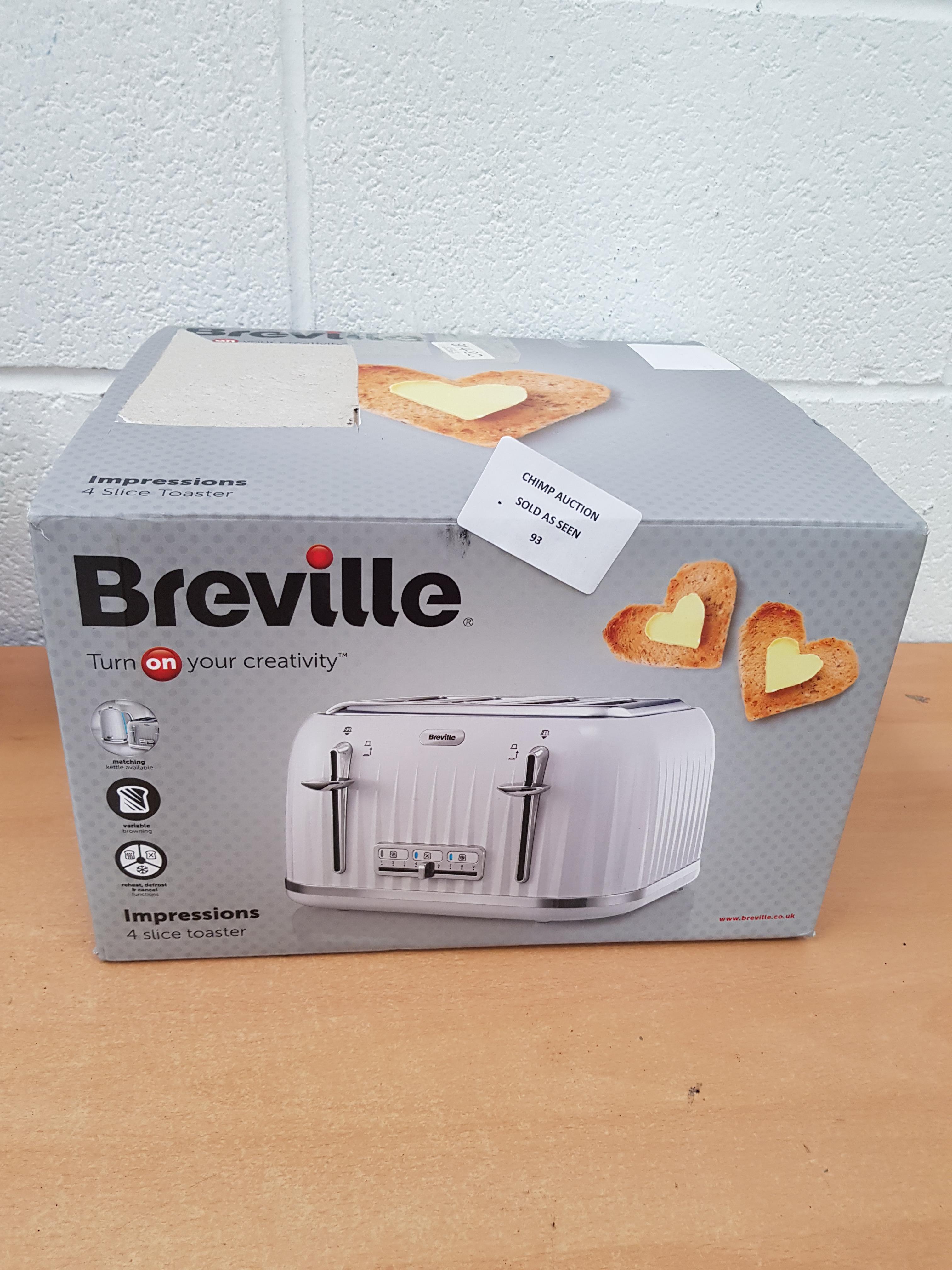 Lot 93 - Breville Impressions 4 slice toaster