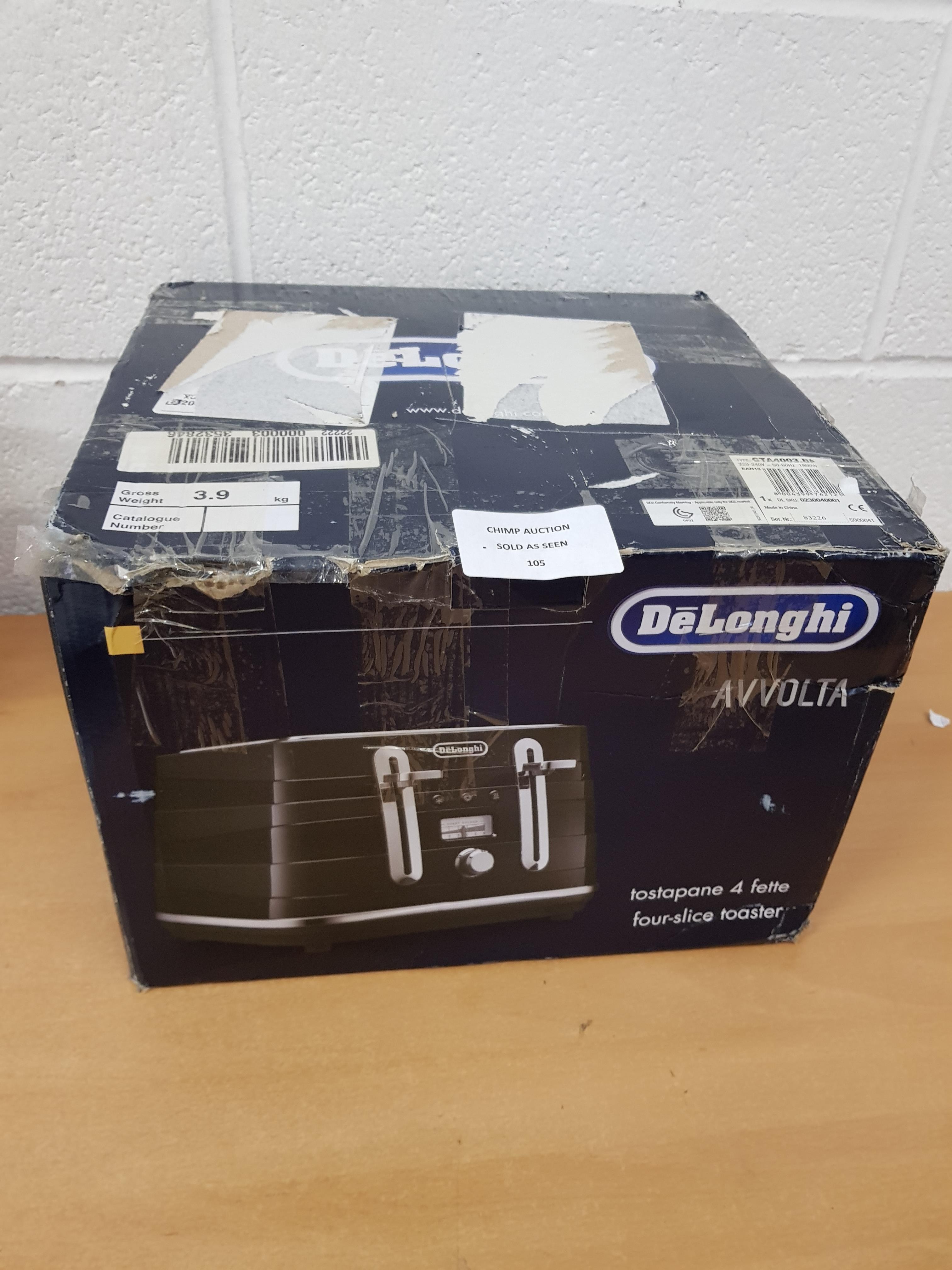 Lot 105 - DeLonghi Avvolta 4 slice toaster