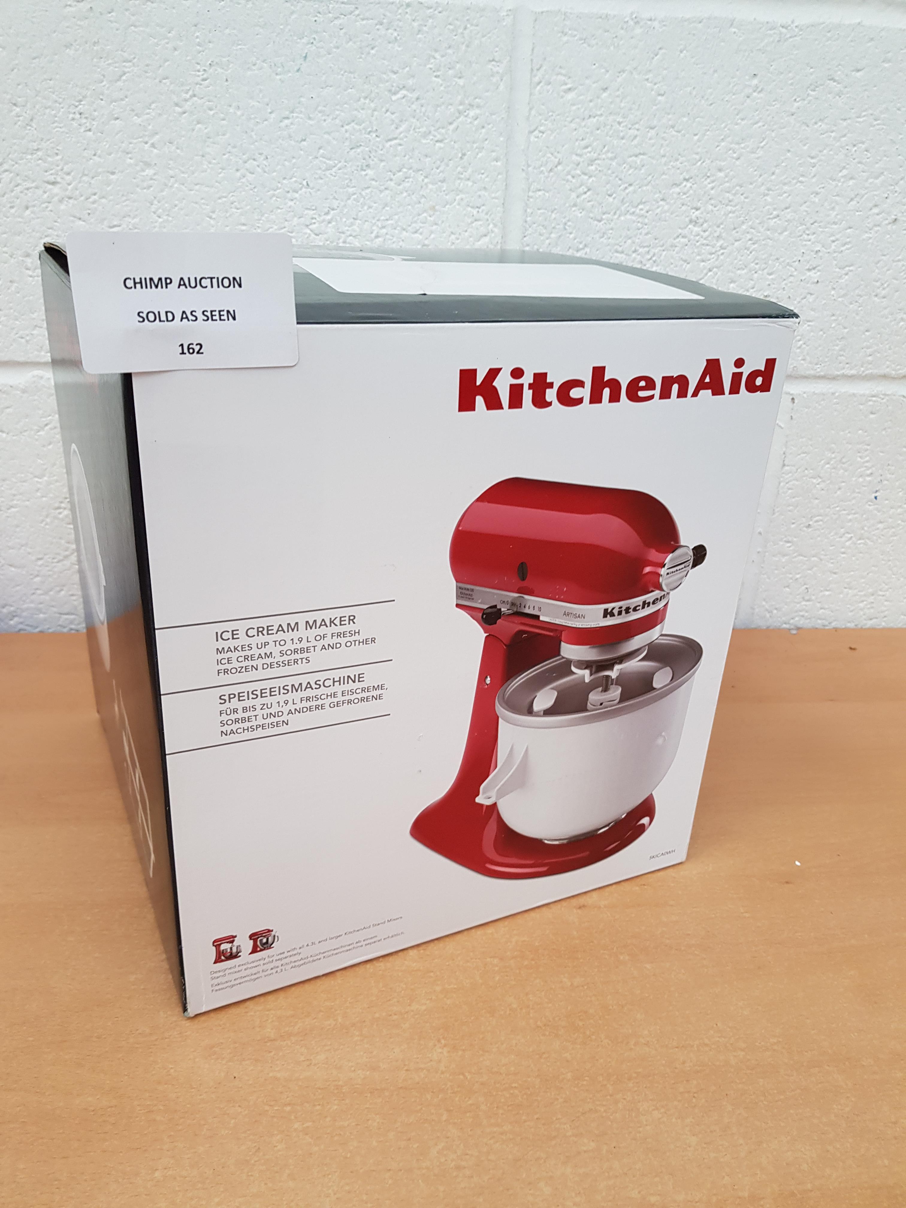 Lot 162 - KitchenAid 5KICA0WH Ice Cream Maker RRP £109.99