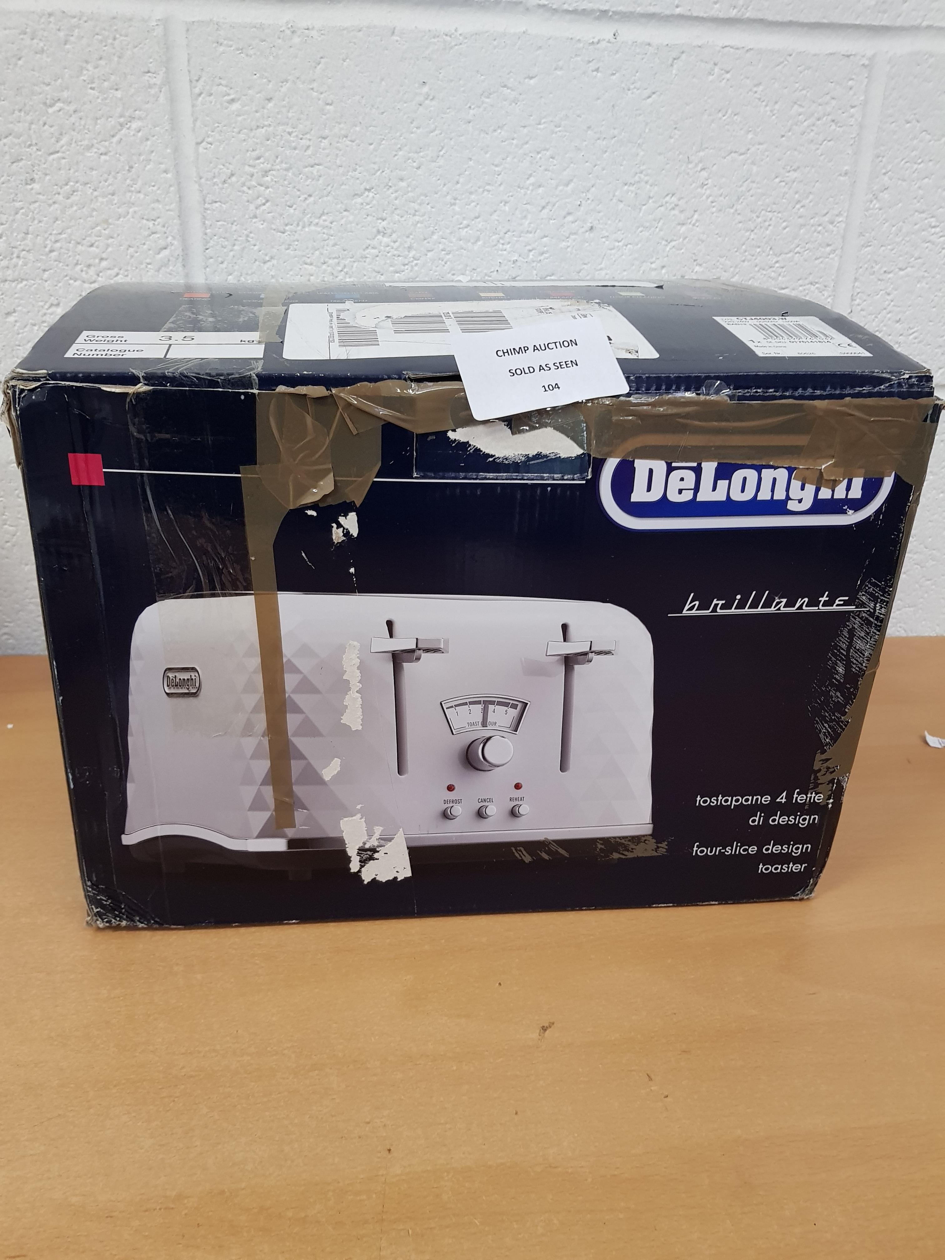 Lot 104 - DeLonghi Brillante 4 slice toaster