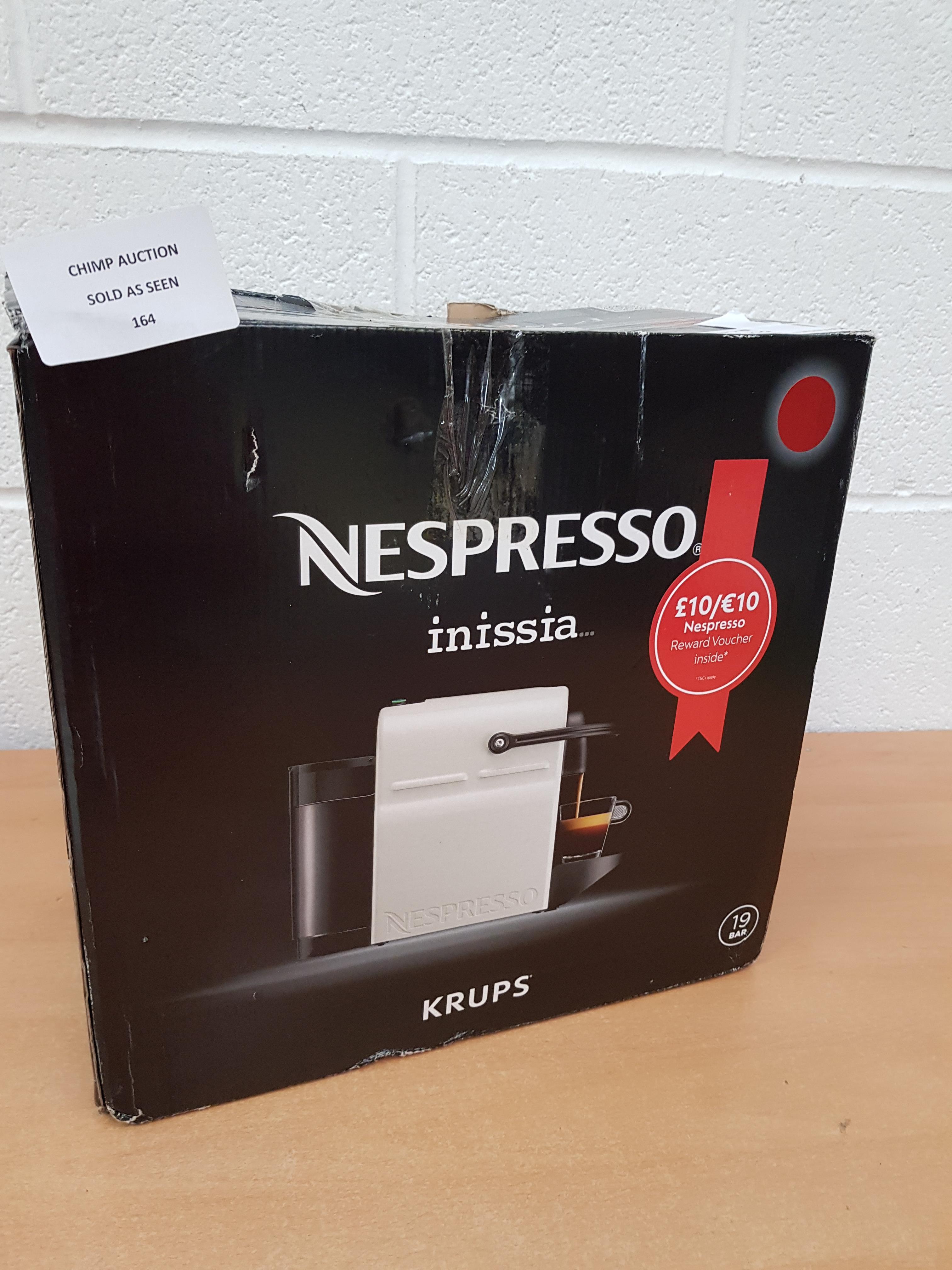 Lot 164 - Krups Nespresso Inissia Coffee Capsule Machine RRP £179.99
