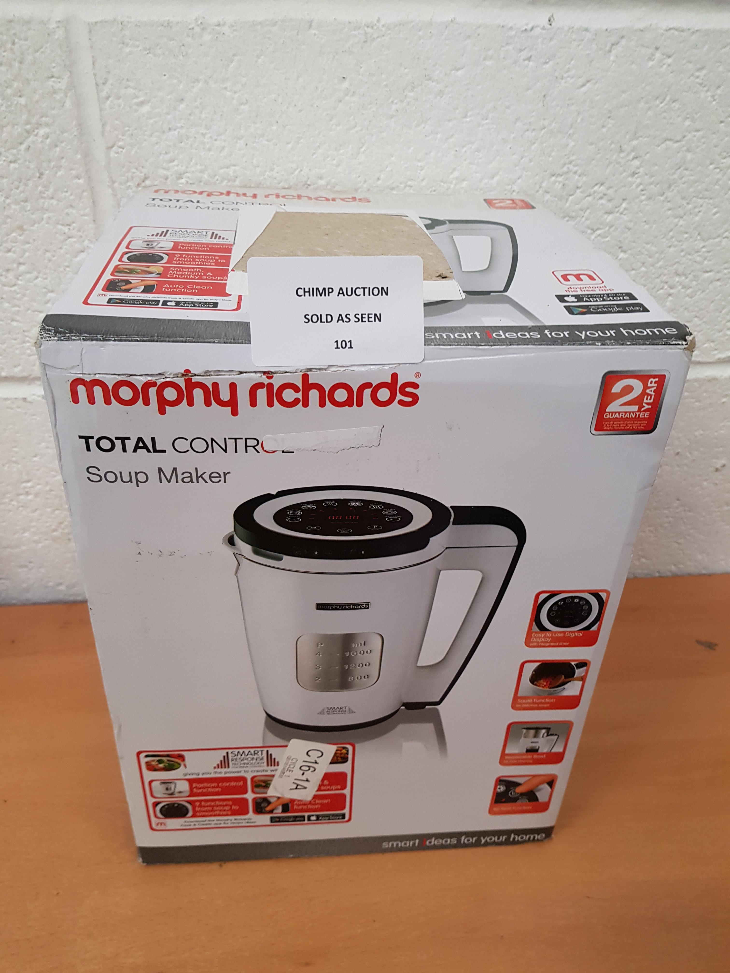 Lot 101 - Morphy Richards Total Control Soup Maker
