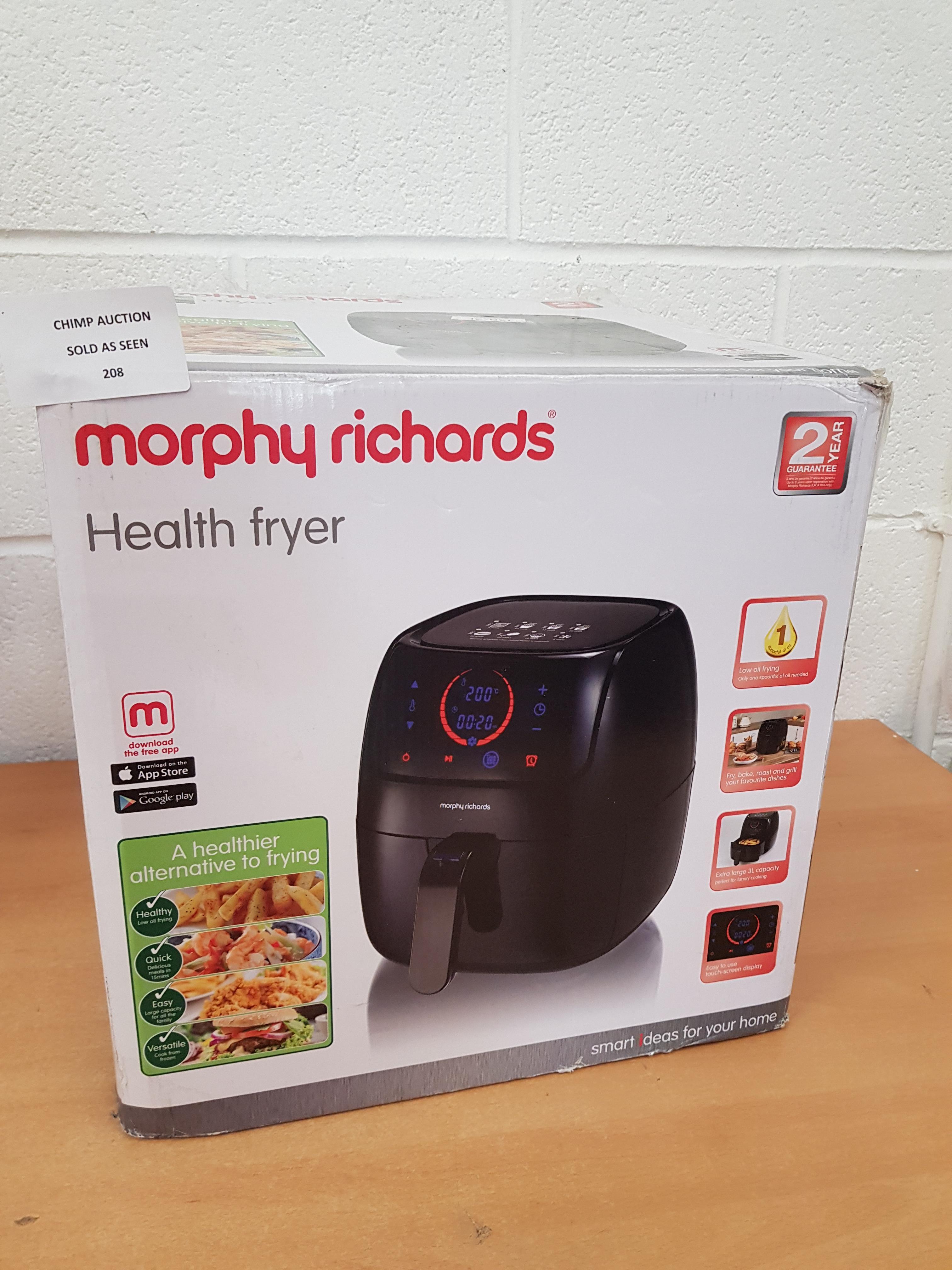 Lot 208 - Morphy Richards 3L 480001 Health Fryer RRP £119.99