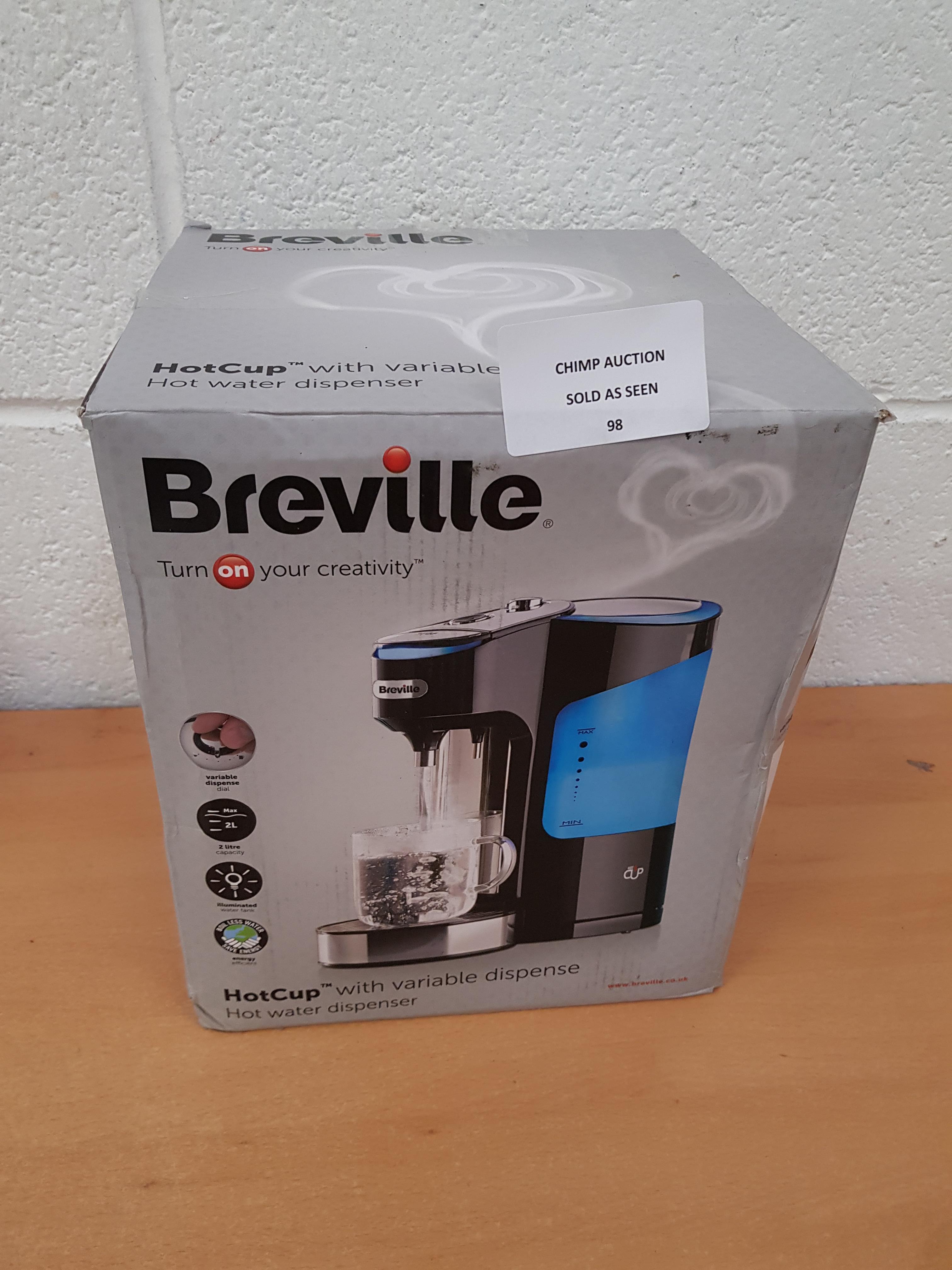 Lot 98 - Breville HotCup variable Dispense Hot water dispenser