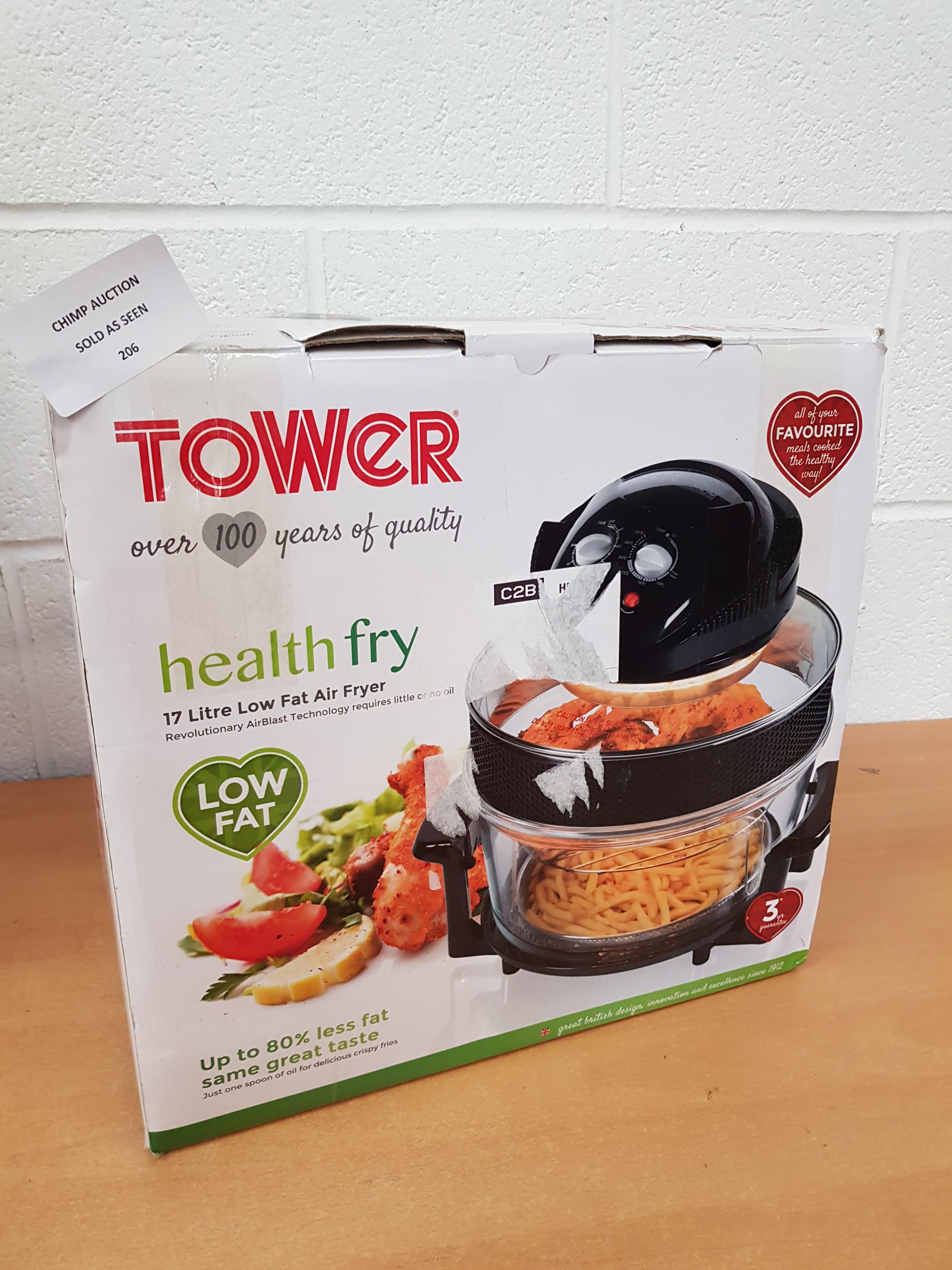 Lot 206 - Tower T14001 Halogen Airwave Low Fat Air Fryer RRP £79.99