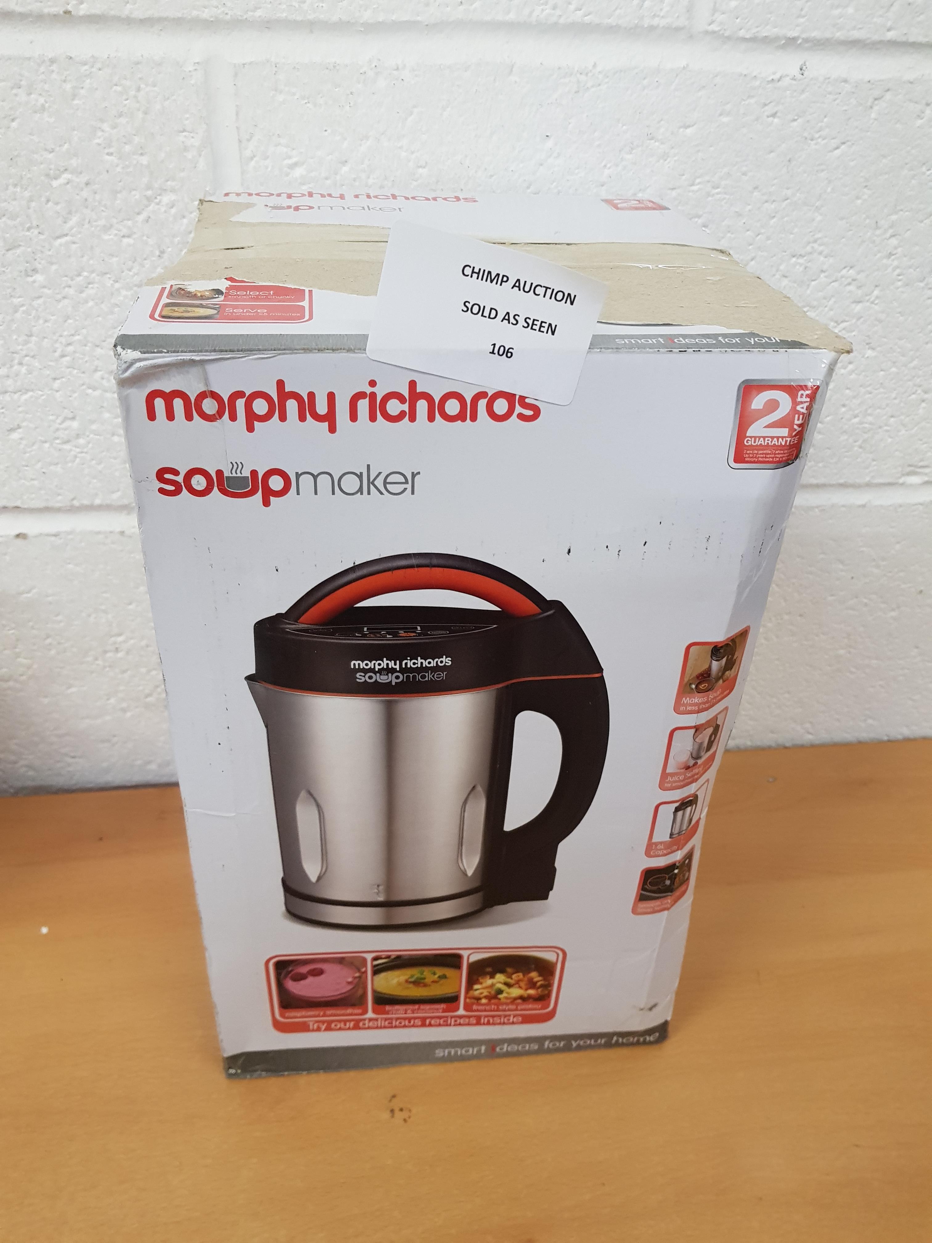 Lot 106 - Morphy Richards Soup Maker