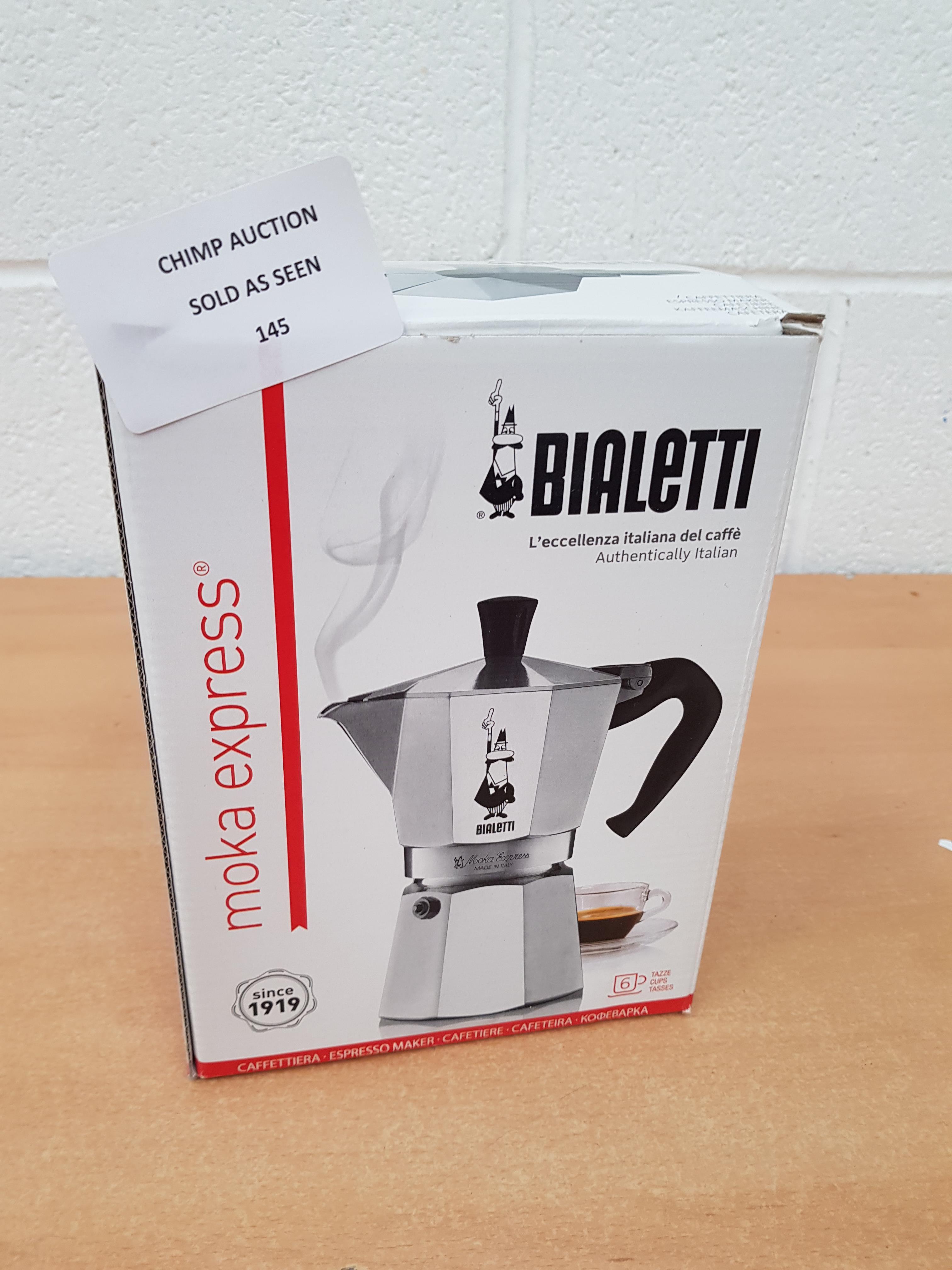 Lot 145 - Bialetti Moka express coffee maker