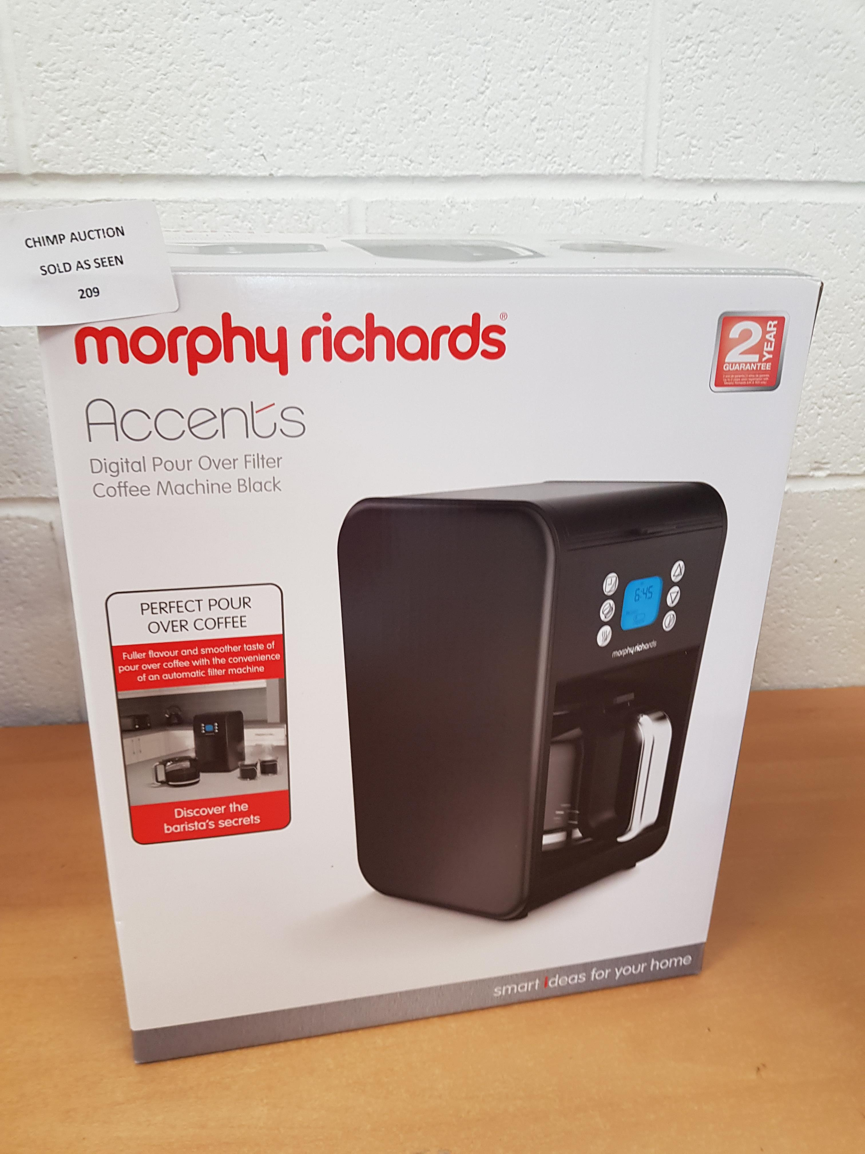 Lot 209 - Morphy Richards accents Digital Pour Coffee Machine