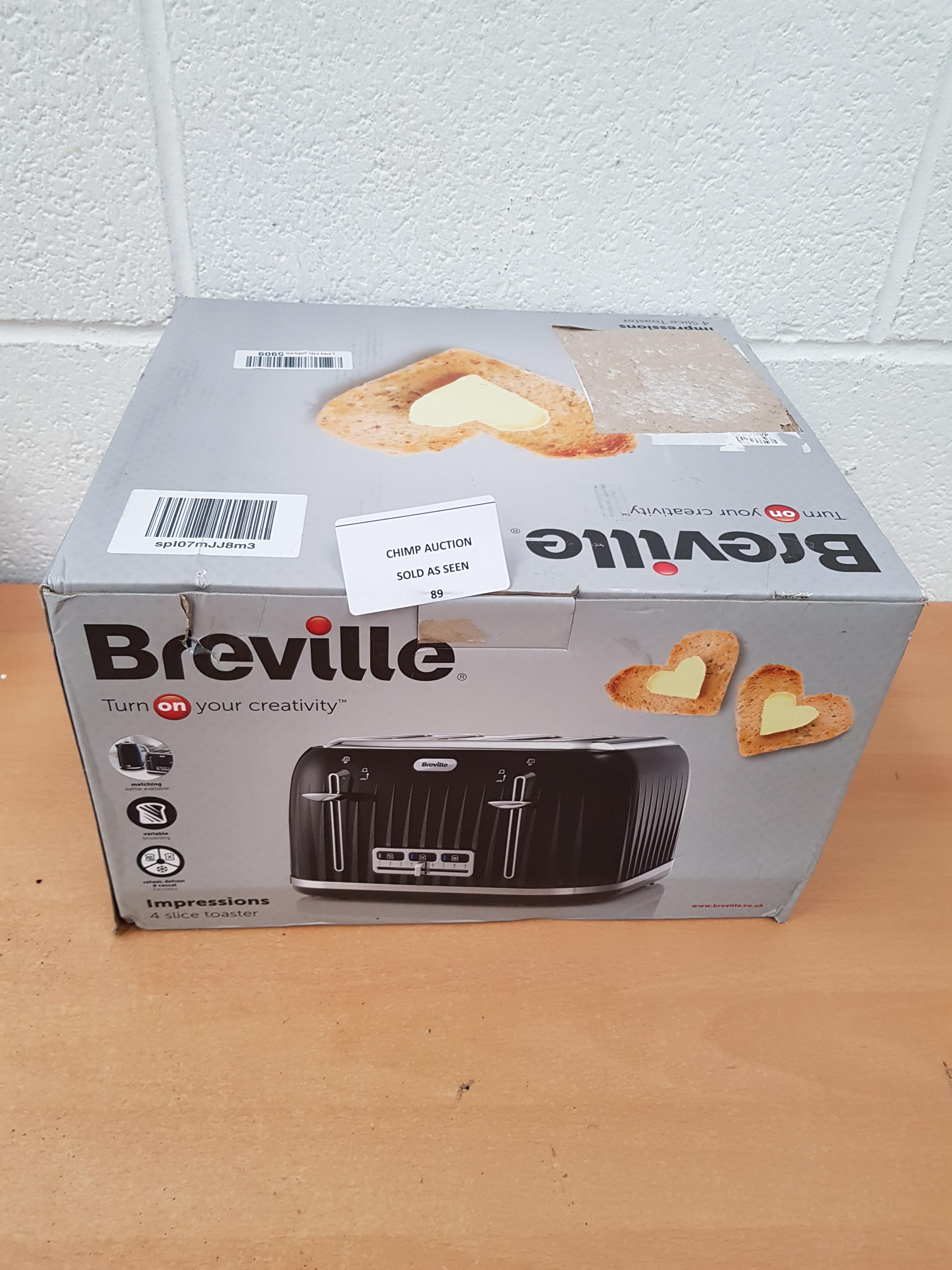 Lot 89 - Breville Impressions 4 slice toaster