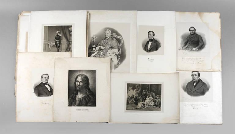 Auktionslos 4013 - 30 Portraitbilder Lithographien, um 1860, Verlag George Müller, Lithograph und Fotograf in Hannover,