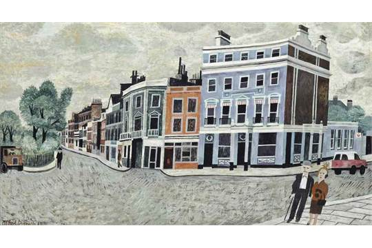 Alfred Daniels R W S 1924 2017 The Old Pier Hotel Chelsea Signed And Dated 1