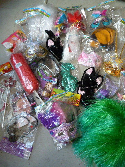 Lot 226 - *Box of Accessories Including Carnival Masks, Pomp