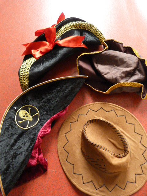 Lot 191 - *Cowboy Hat, Tricorn Hat and Two Pirate Hats