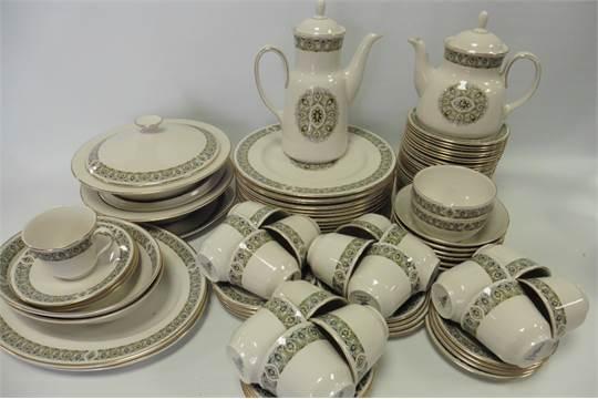 Royal Doulton u0027Celtic Jewelu0027 pattern dinner/tea set consisting of 2 covered tureens 2 oval platt & Royal Doulton u0027Celtic Jewelu0027 pattern dinner/tea set consisting of 2 ...