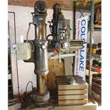 "Archdale 36"" heavy duty radial drill, and cabinet of tooling"