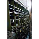 Pigeon hole rack and contents including various gear shaper and planer tooling