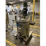 35 GALLON REACTOR: IBS-HENINRICHPORTABLE STAINLESS STEEL JACKETED REACTOR TANK WITH   Rig Fee: $100