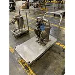 WILDEN PUMP M8 STAINLESS STEEL DIAPHRAGM PUMP, 316 STAINLESS STEEL WITH CART   Rig Fee: $35