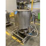 80 GALLON WALKER PORTABLE STAINLESS STEEL TANK; S/N 6092, WITH 7.5 HP TECO POSITIVE   Rig Fee: $100