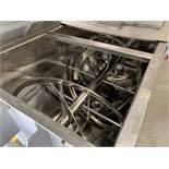 """STAINLESS STEEL RIBBON BLENDER 99"""" X 50"""" X 54"""" H TROUGH, DOUBLE HELIX   Rig Fee: $4200"""