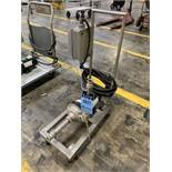 1 HP DAYTON STAINLESS STEEL CENTRIFUGAL PUMP WITH CART MODEL 4JMV8A   Rig Fee: $35