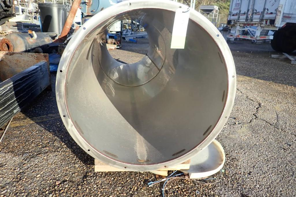 Lot 1110 - SS flanged vent, 144 in. long x 35 in. dia - ** Located in Dothan, Alabama ** Rigging Fee: $150
