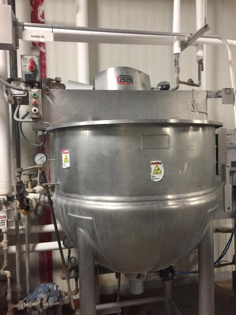 Lot 140 - 1999 Lee SS steam jacket kettle, model 200D9MS, s/n 12158-1-1. (#1) - ** Located in South Beloit, Il