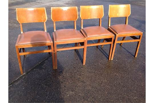 Miraculous A Set Of Four 60S Dining Chairs Having Rounded Backs Above Lamtechconsult Wood Chair Design Ideas Lamtechconsultcom