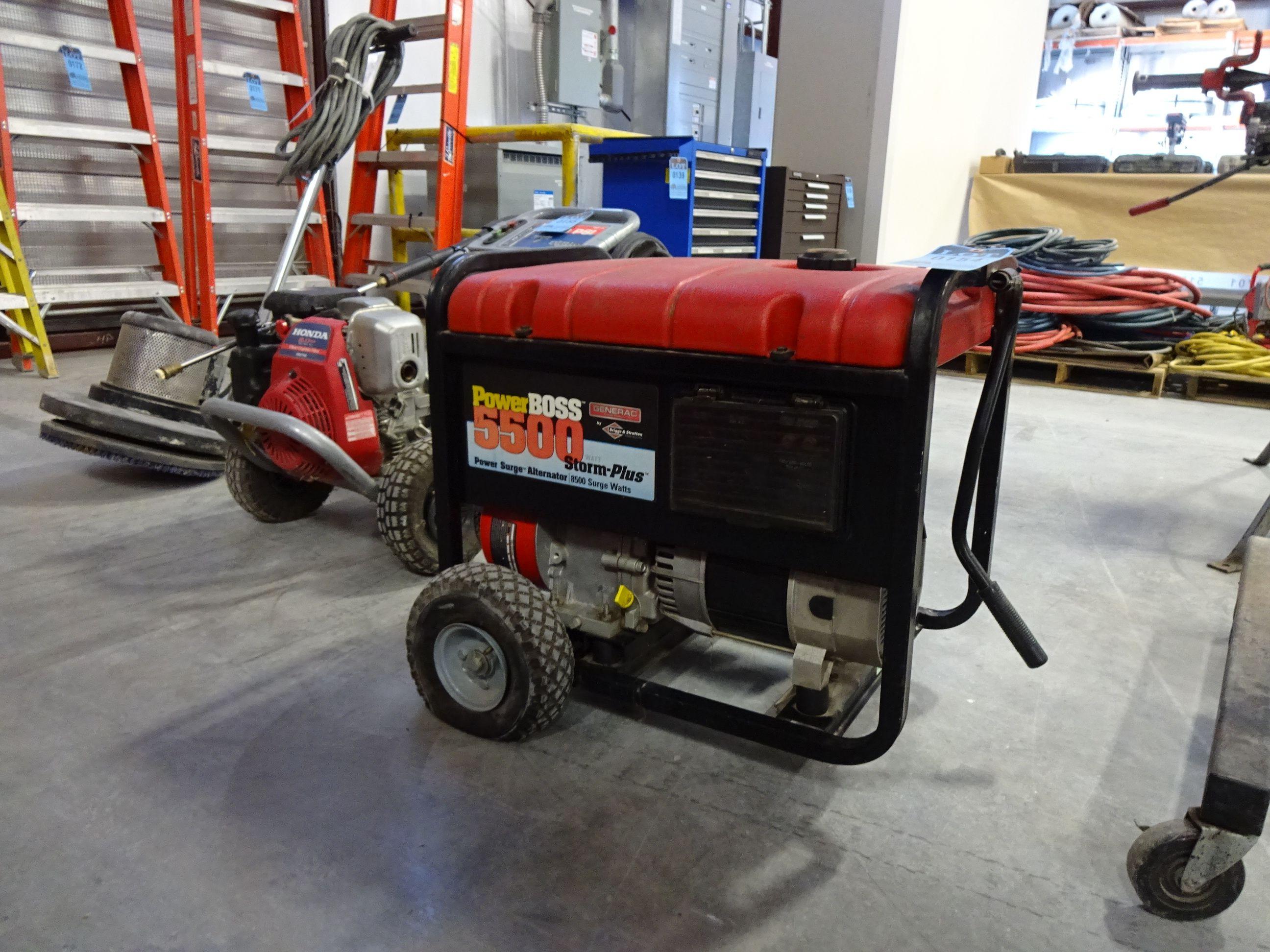 5 500 WATT GENERAC MODEL STORM PLUS 10 HP GAS PORTABLE GENERATOR