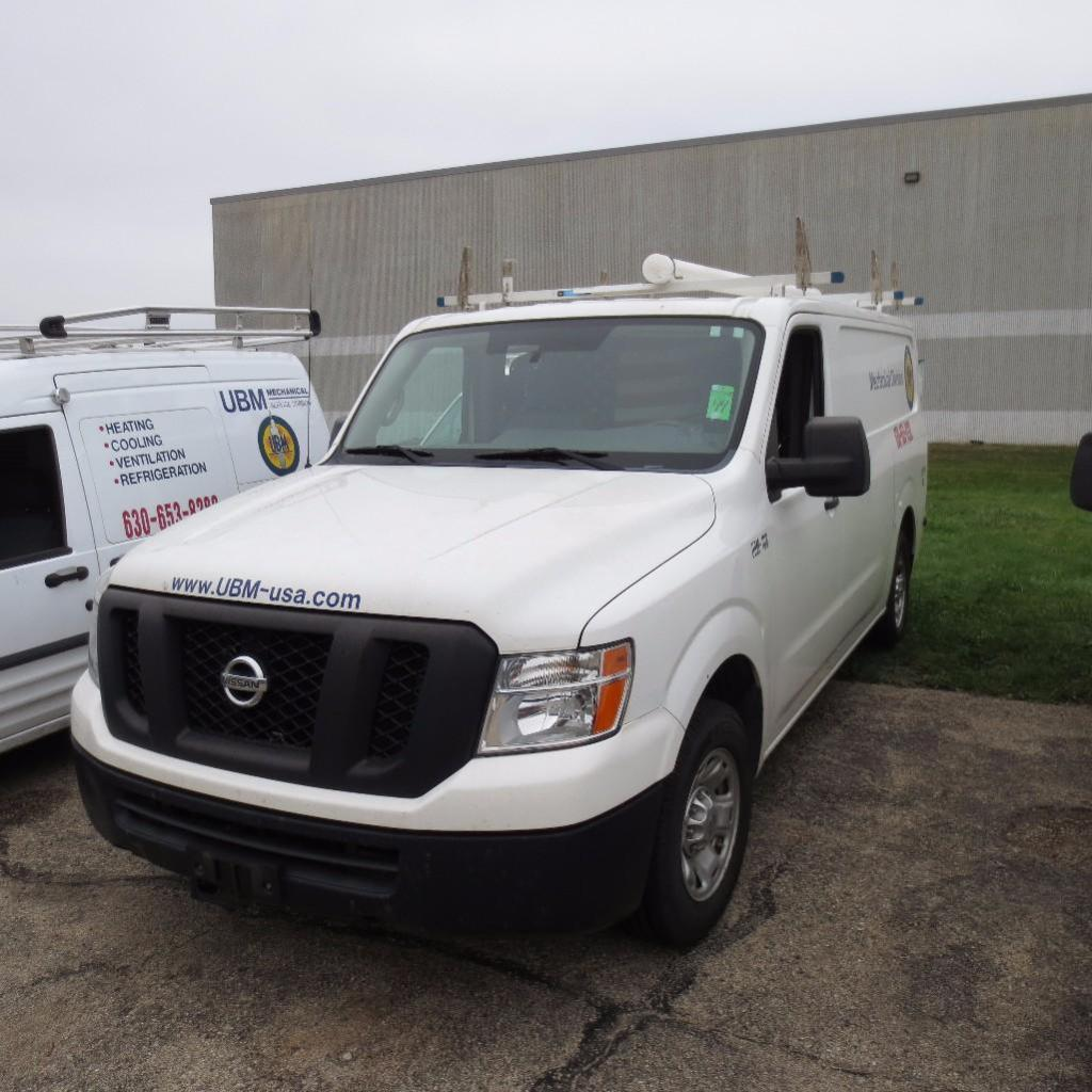 Nissan NV 2500 Cargo Van, Year 2011, 4.0L V-8, 125,614