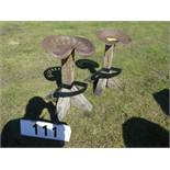 2 IMPLEMENT SEAT STOOLS