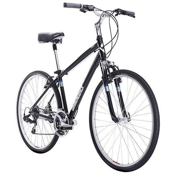 Lot 123 - NEW DIAMONDBACK MARAVISTA Mens Hybrid Medium Frame Bike, Color: Black M/N 02-0910441