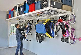 Lot 131 - NEW SAFERACKS 4' x 8' Overhead Garage Storage Rack