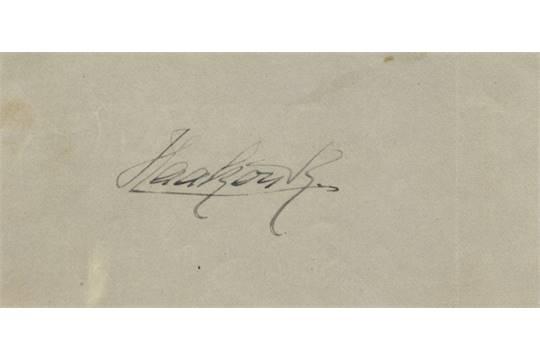 EUROPEAN ROYALTY Haakon VII 1872 1957 King Of Norway 1905 57 Ink