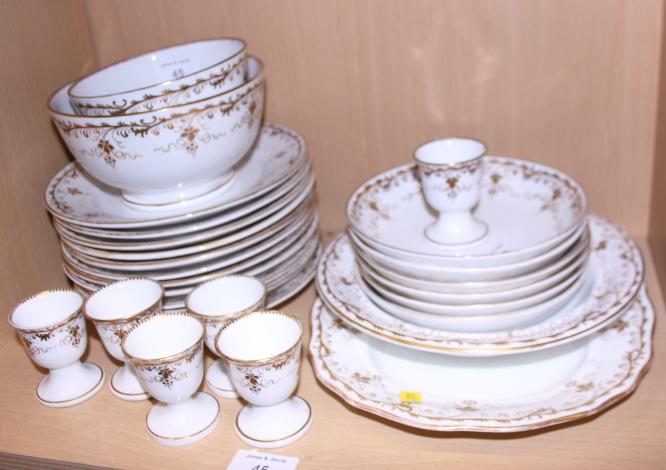 Lot 45 - A 19th century bone china gilt decorated part breakfast service