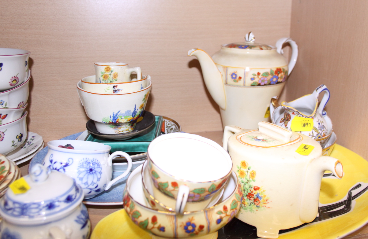 """Lot 54 - A quantity of Villeroy and Boch """"Petite Fleur"""" plates and bowls, an Aynsley part coffee set and"""