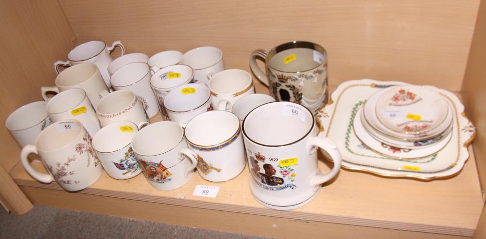Lot 60 - A Wedgwood Royal commemorative mug, designed by Richards Guyatt, and a large collection of Royal